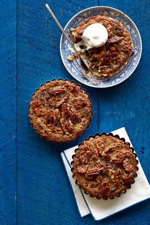 Mini German Chocolate Brownie Pecan Tarts Thanksgiving Dessert