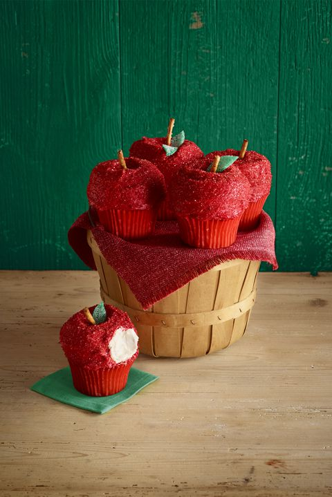 Röd apple cupcakes