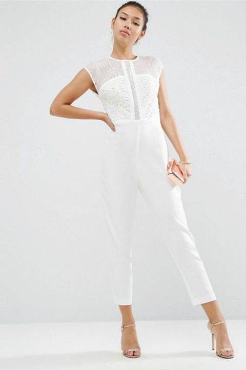 ASOS Premium Jumpsuit With Embroidered Panels