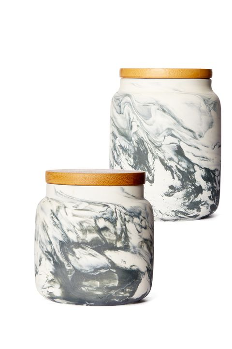 Marmor Pattern Ceramic Storage Canister Gift Ideas for Women