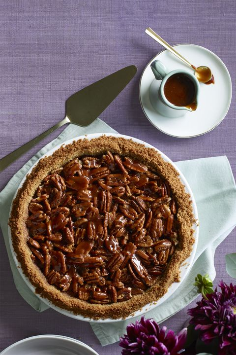 saltade Caramel Pecan and Chocolate Pie Thanksgiving Dessert