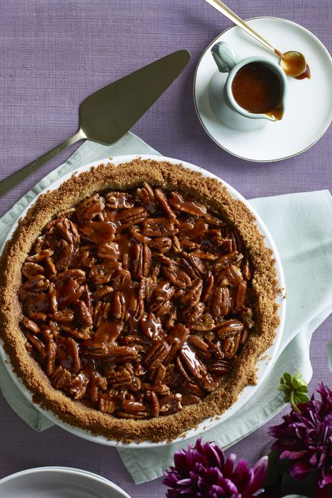Слано Caramel Pecan and Chocolate Pie Thanksgiving Dessert