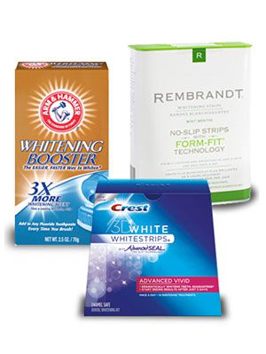 Crest, Arm & Hammer, Rembrandt teeth whitening systems
