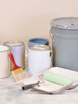 кашике of paint inside home