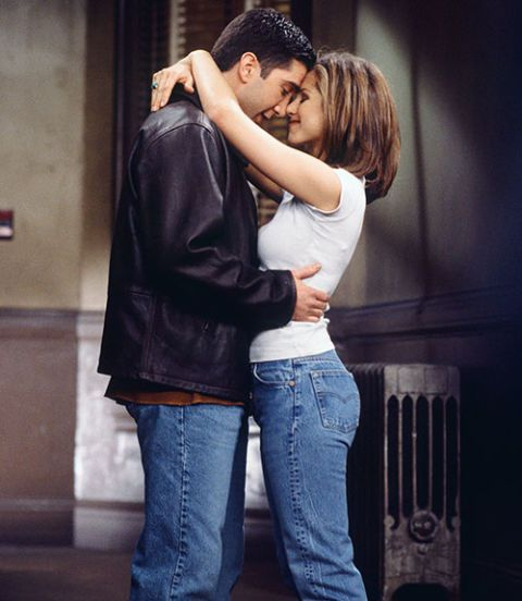 на screen romance between ross and rachel