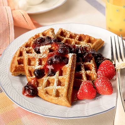 Martys whole wheat waffles