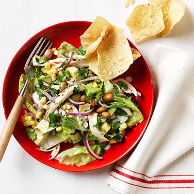 tex mex chicken nacho salad