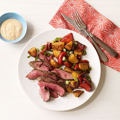flank steak with smoky roasted potatoes
