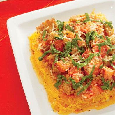 Debbie jones' spaghetti squash and turkey sausage casserole