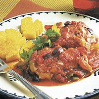kyckling with tomato sauce and polenta