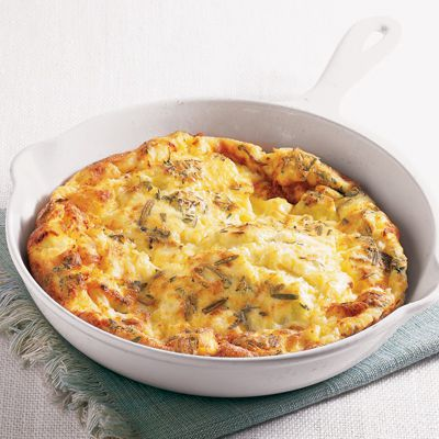 ört and feta frittata