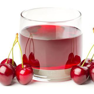 glas of cherry juice