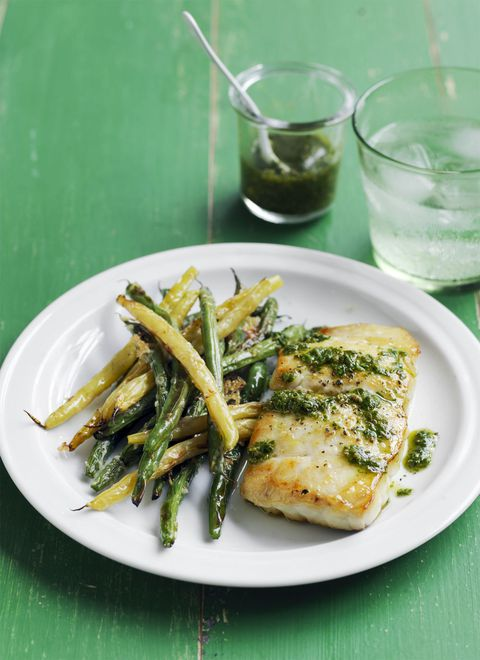 Cod with Crispy Green Beans Recipe