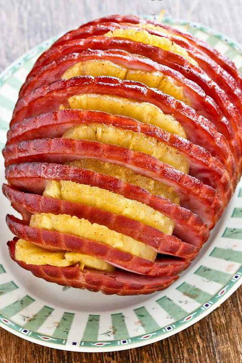 Hasselbacks pineapple ham