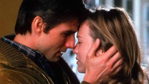 ทอม Cruise and Renee Zellweger in a scene from Jerry Maguire