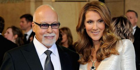 Celine Dion with her husband Rene Angelil