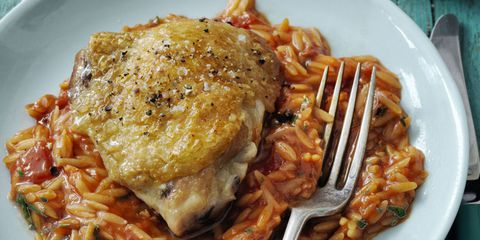 Skillet Chicken and Orzo 30-Minute Meal