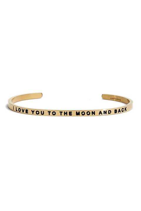 MantraBand 'I Love You to the Moon and Back' Cuff Gift Ideas For Women